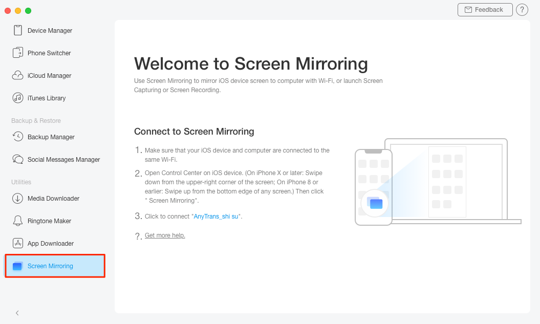 An Alternative of AirPlay to Mirror Screen