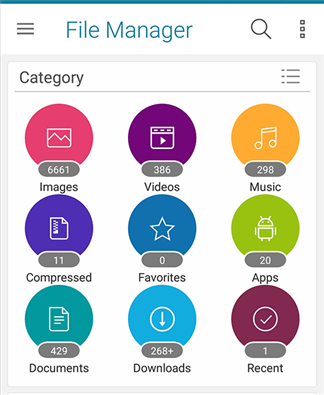 Access the Images option in Asus File Manager