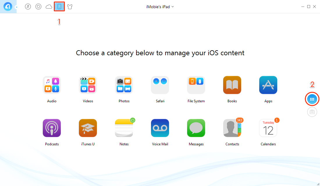 How to Move Pictures from iPad to PC with AnyTrans