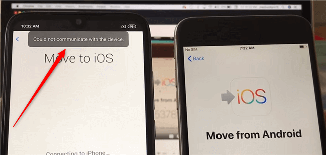 Transfer Error from Android to iPhone - Move to iOS Could Not Communicate with Device