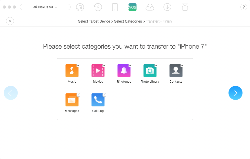 "Fix ""Move to iOS Could Not Communicate with Device"" with AnyTrans – Step 3"