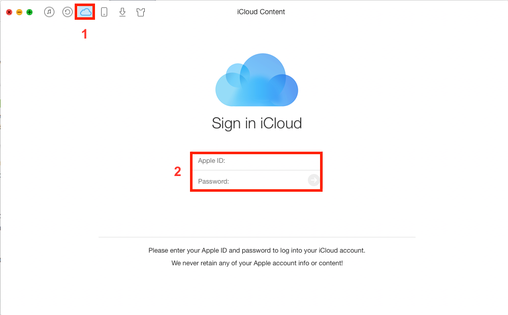 How to Transfer Photos from iCloud to iCloud – Step 1