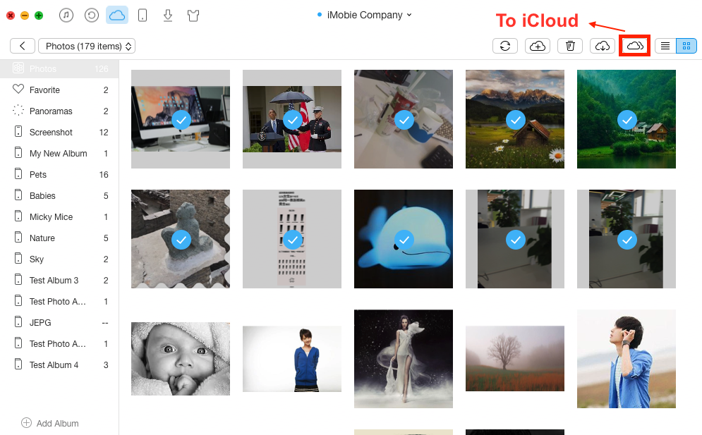 How to Transfer Photos from iCloud to iCloud – Step 3