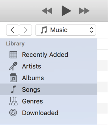 Access the Music Library in iTunes
