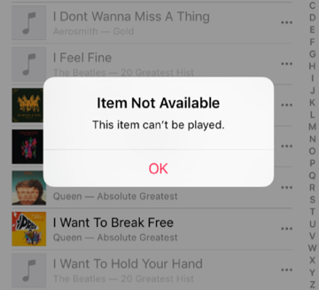 apple music wont play downloaded music android