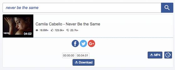 Free Download Camila Cabello Never Be the Same – via Savetomp3