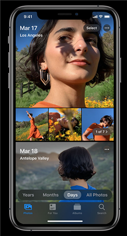 New features in the Photos app Image Credit: Apple.com