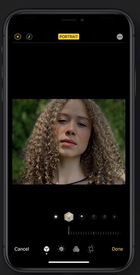 Improved portrait mode in the Camera app Image Credit: Apple.com