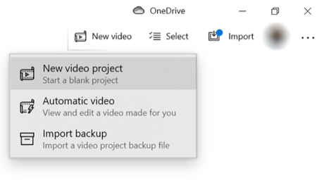 Choose New Project in the Photos App