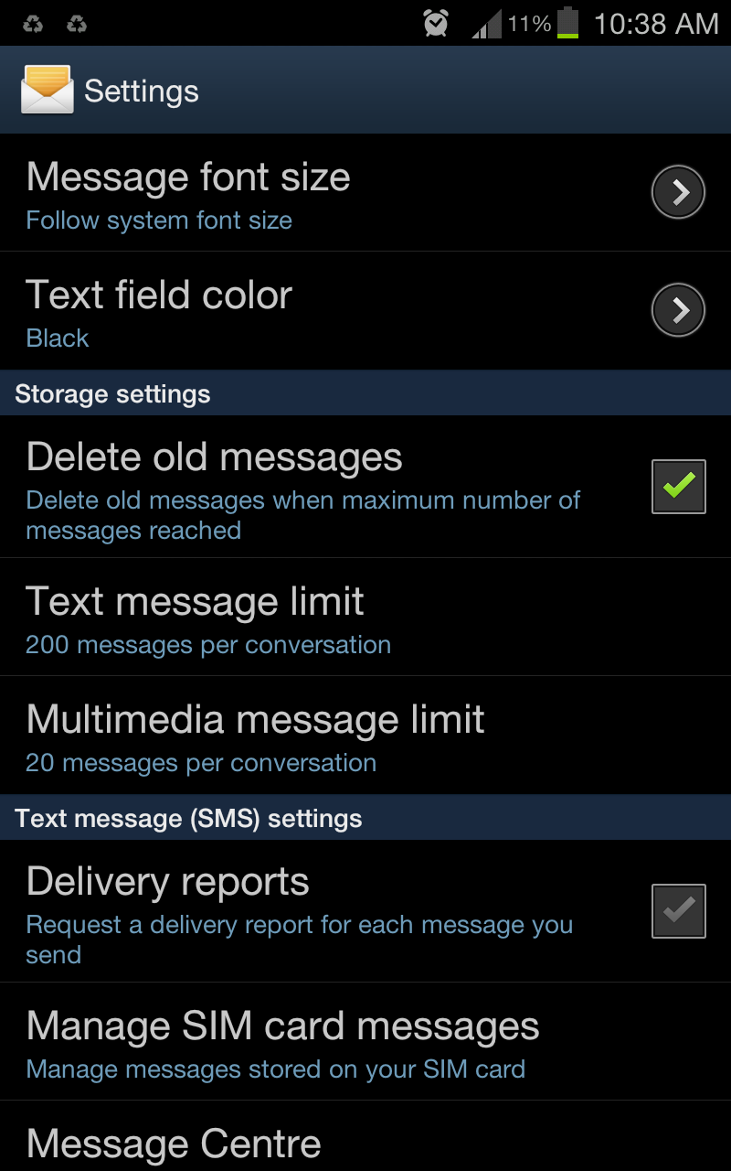 Reach the Text Message Limit-Step 3