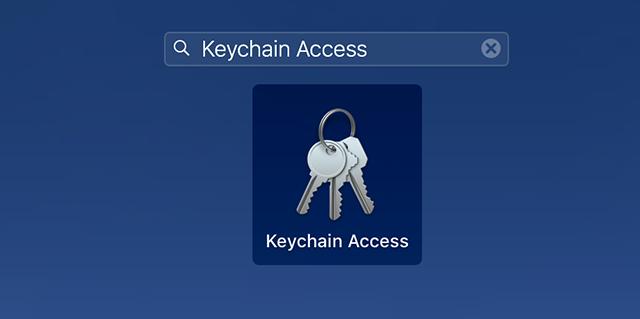 Open Keychain Access on Mac