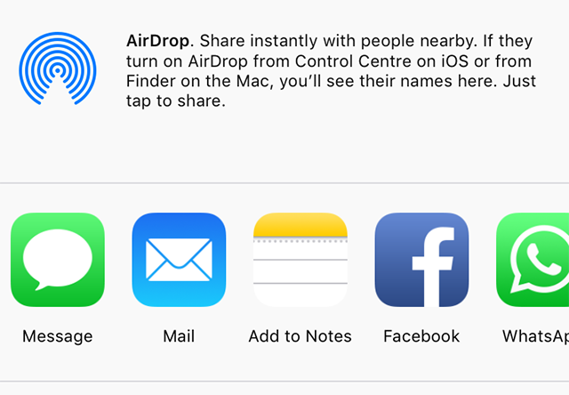 Share Photos with AirDrop