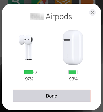 Complete pairing AirPods with the iPhone