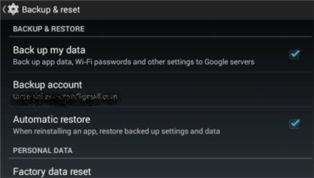 Perform a Factory Resetting