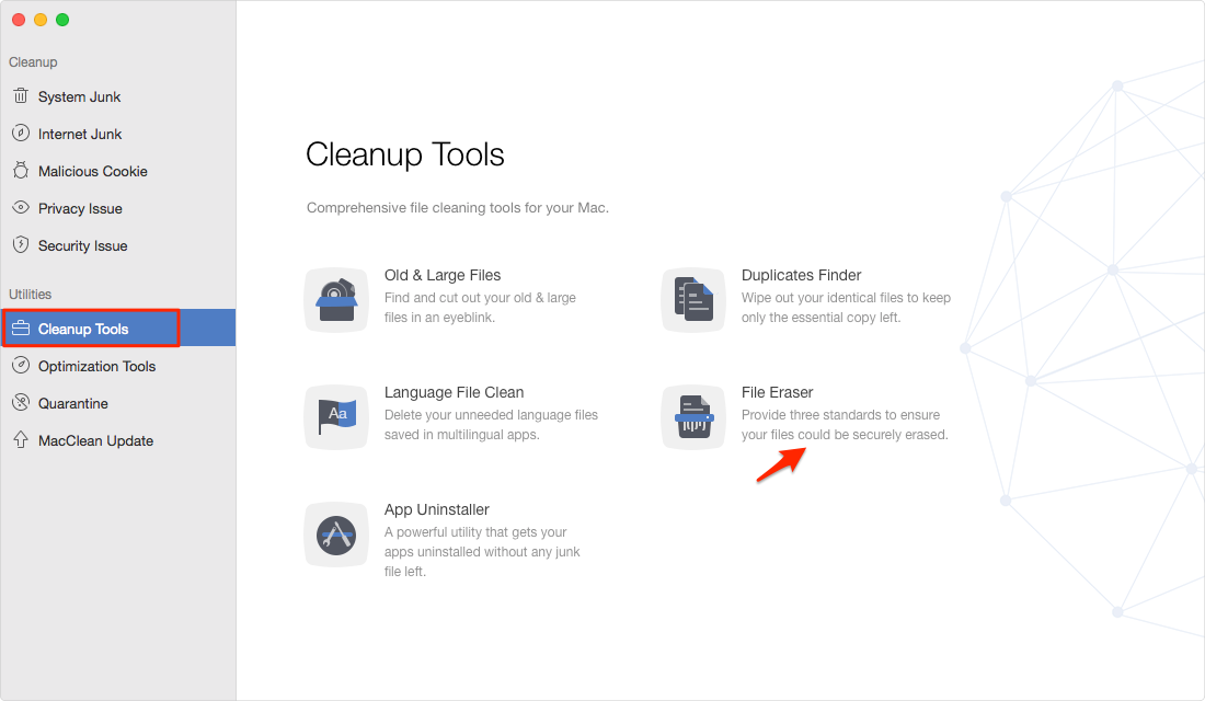 How to Permanently Delete Files on Mac with MacClean – Step 2