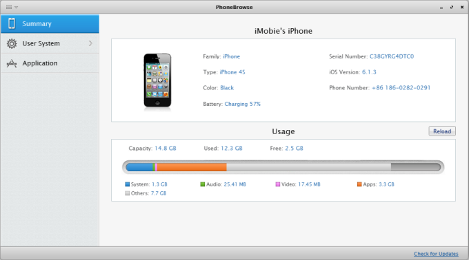 Browse iPhone, iPod touch File System