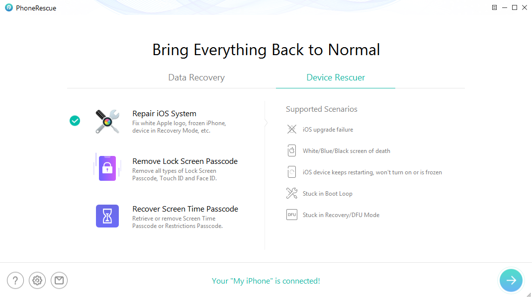 How to Reboot iPhone/iPad without Losing Data – Step 2