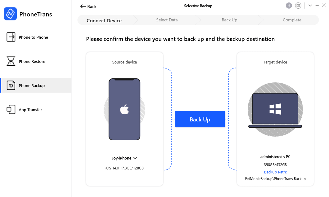 Backup iPhone to Computer