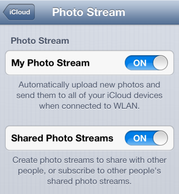 How to Turn on Photo Stream