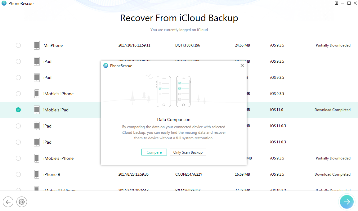 Get Back Missing Photos from iCloud Backup - Step 4