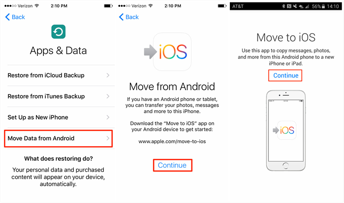 Transfer Photos from Samsung to iPad with Move to iOS