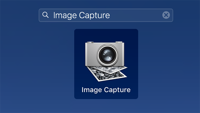 Access the Image Capture app on your Mac
