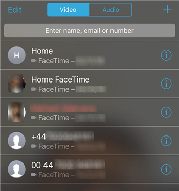 Placing a FaceTime Call on the iPhone