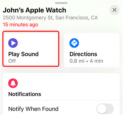 Play Sound on an Apple Watch