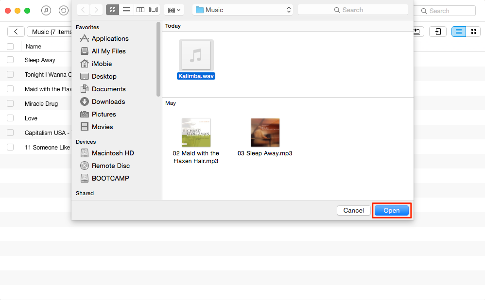 Play WAV Files on iPhone with AnyTrans – Step 3