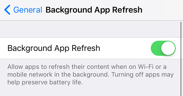 Prevent apps from refreshing in the background