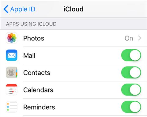 Enable calendar sync on the iPhone