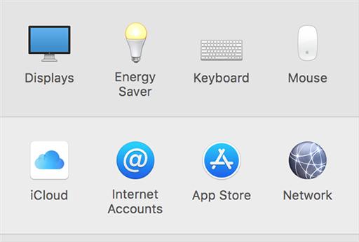 Open iCloud settings menu on Mac