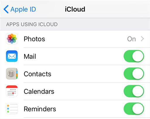 Turn on iPhone calendar sync with iCloud