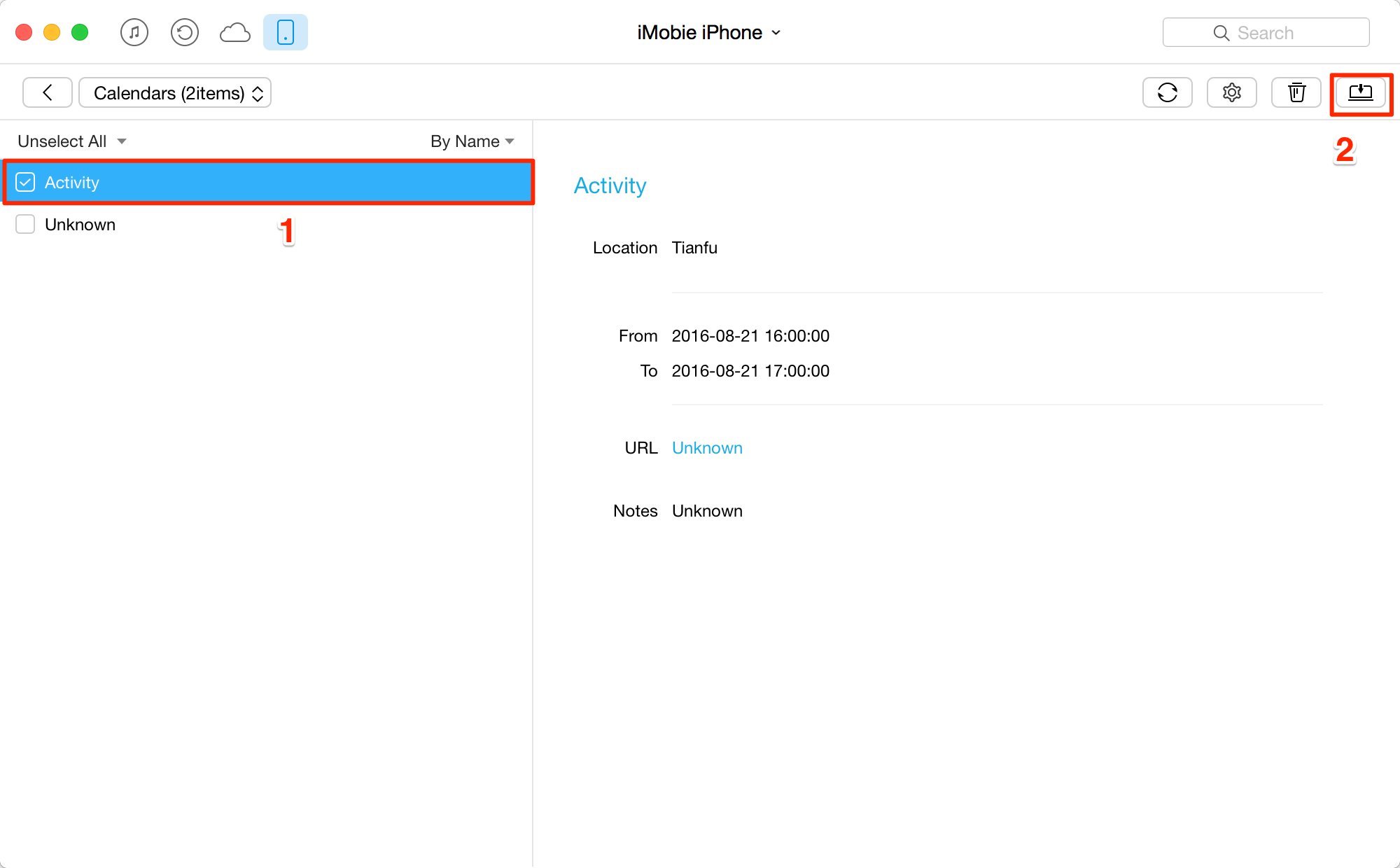 Print Calendar Events from iPhone 6 - Step 4