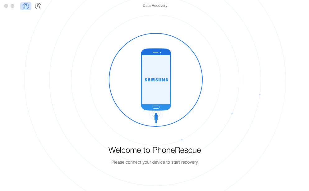 How to Print Text Messages from Android with PhoneRescue - Step 1
