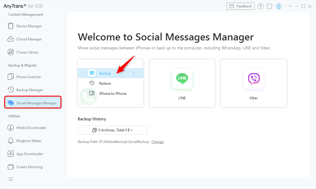 Print WhatsApp Messages with AnyTrans