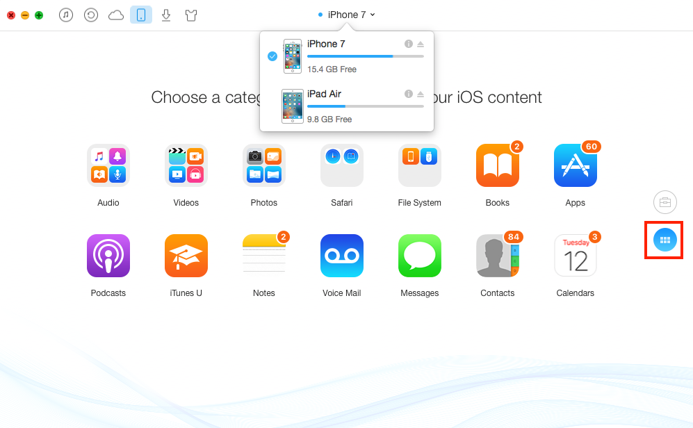 How to Transfer App and Game Saves from iPhone to iPad Air - Step 1
