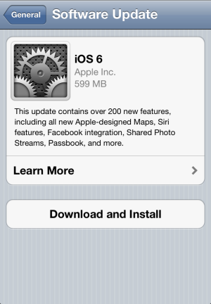 iOS 6 Is Ready to Update
