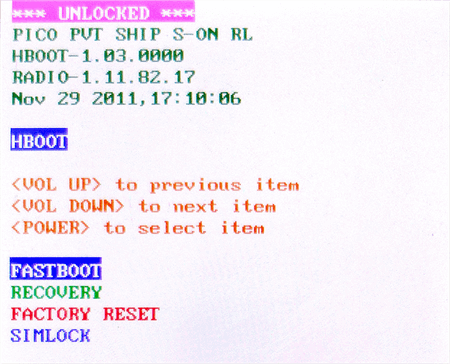 Reboot Into Recovery to Exit Fastboot Mode