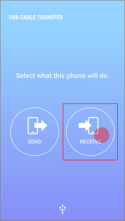 Receive data from iPhone on Samsung