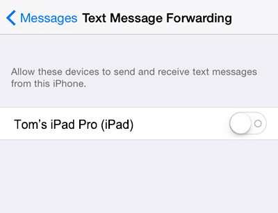 how to send text messages from ipad ios 8