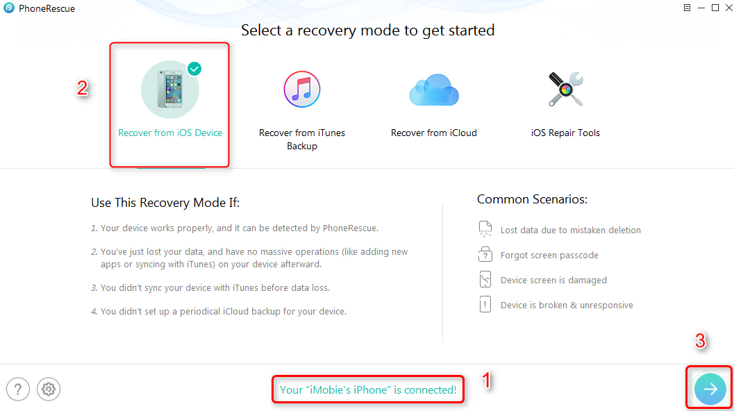 How to Recover Contacts on iPhone 6/6s (Plus) – Step 1