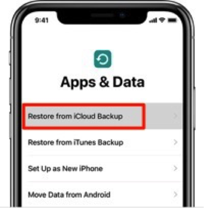 Recover Data from Wiped iPhone/iPad with iCloud Backup – Step 2