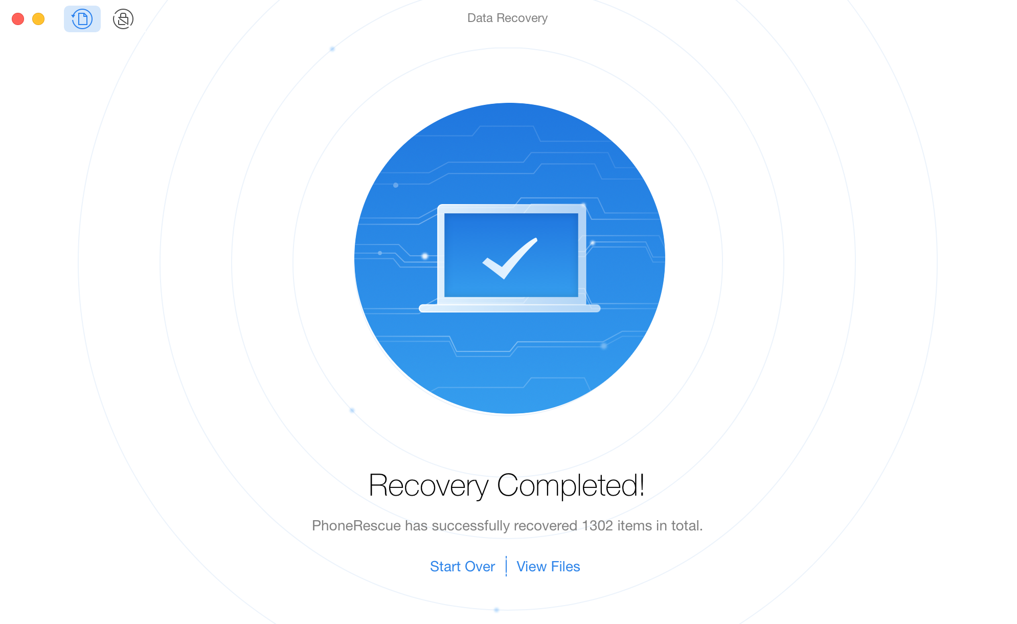 Files Successfully Recovered through PhoneRescue for Android