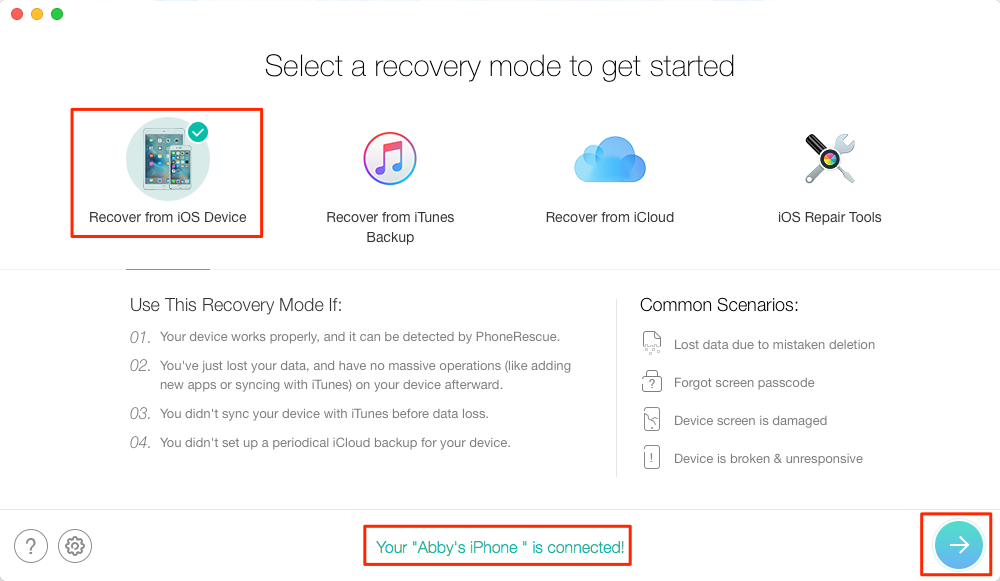 How to Recover Deleted iMessages without Backup – Step 1