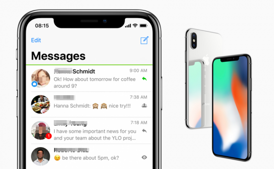 How to Recover Deleted Messages on iPhone X/8 without Backup