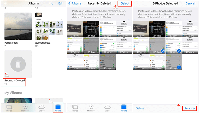 How to Recover Deleted Photos from iPhone via Recently Deleted