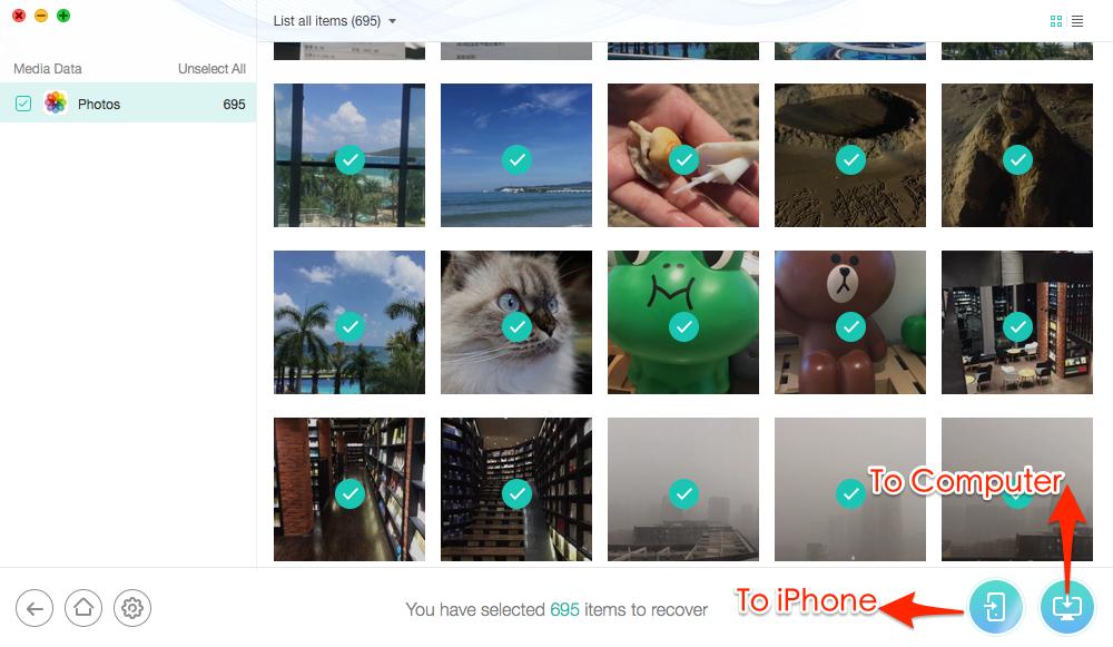 İTunes Backup ile iPhone'dan Silinen Fotoğraflar Nasıl Kurtarılır - Adım 5