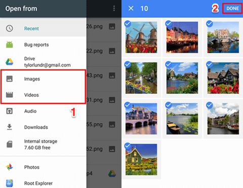 Recover Deleted Photos on Android from Google Drive