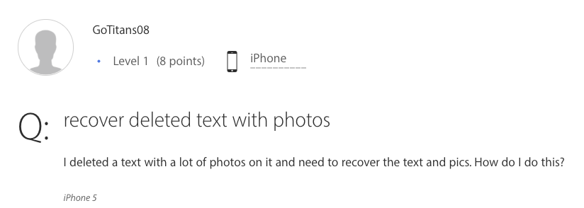 How to Retrieve Deleted Text with Photos
